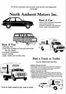 early auto & truck rental brochure