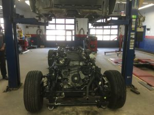 Engine installed in new frame.