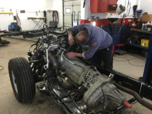 Finishing touches on engine reinstall.